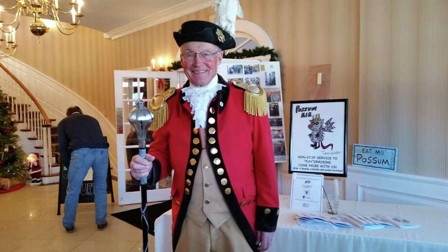 There was a Colonial commander on hand at the 28th annual Possum Queen Festival at the Litchfield Inn at 432 Bantam Road in Litchfield. The contest returns Jan. 1, 2019. Photo: Photo By NF Ambery /Hearst Connecticut Media /