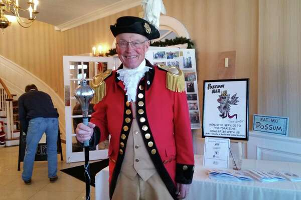 There was a Colonial commander on hand at the 28th annual Possum Queen Festival at the Litchfield Inn at 432 Bantam Road in Litchfield. The contest returns Jan. 1, 2019.