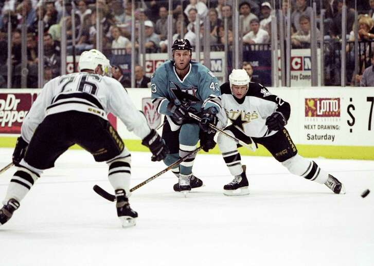 22 Apr 1998: Defenseman Al Iafrate of the San Jose Sharks in action during a game against the Dallas Stars at the Reunion Arena in Dallas, Texas. The Stars won the game, 4-1.