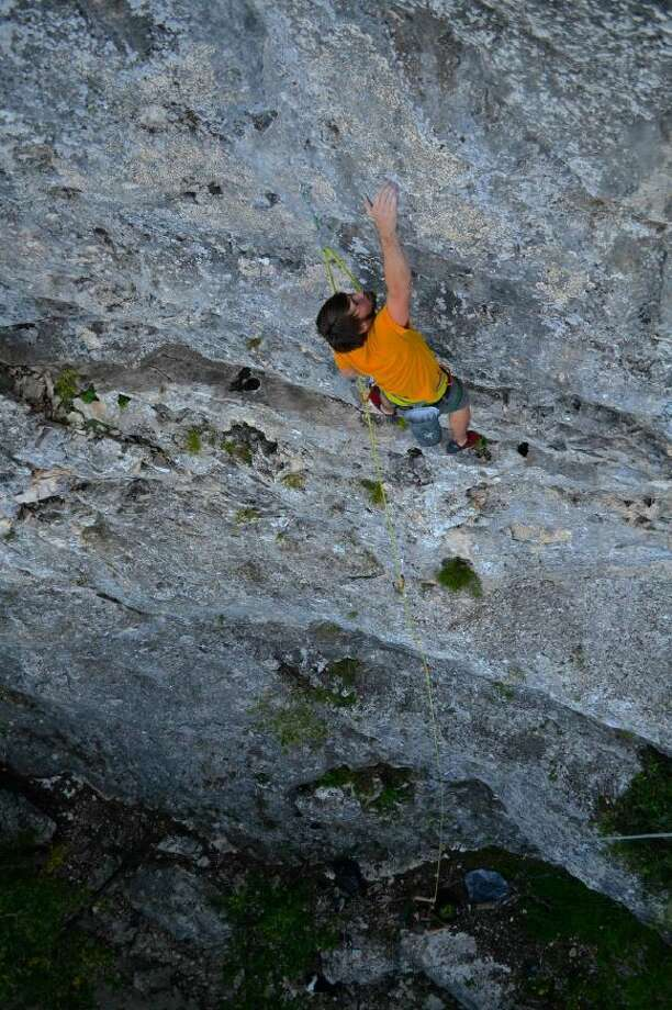 """A limestone bluff on the northern side of San Antonio known as """"Medicine Wall"""" will become the city's first official outdoor rock climbing wall in 2020. Photo: Courtesy Of Ferris Kilpatrick"""