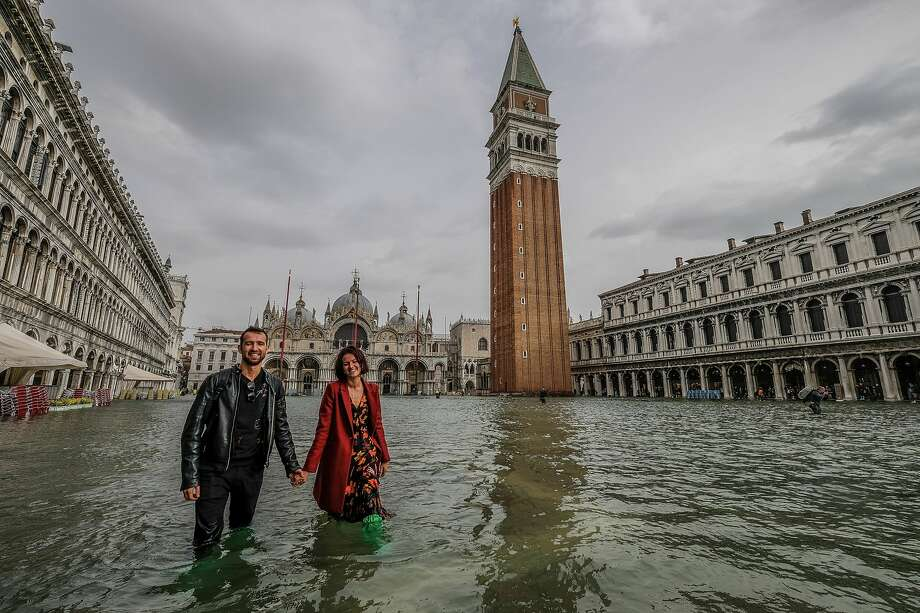 Disappointing photos show the crowds, flooding and cruise ship pollution - this is what Venice really looks like. Photo: Stefano Mazzola/Awakening/Getty Images