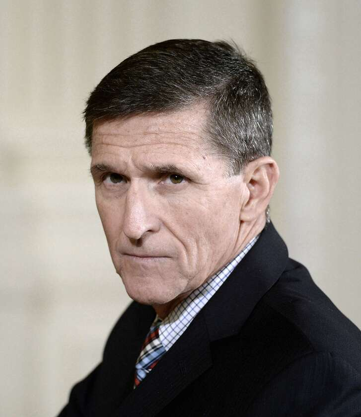 Michael Flynn attends a news conference on Feb. 10, 2017, at the White House in Washington, D.C. (Olivier Douliery/Abaca Press/TNS)