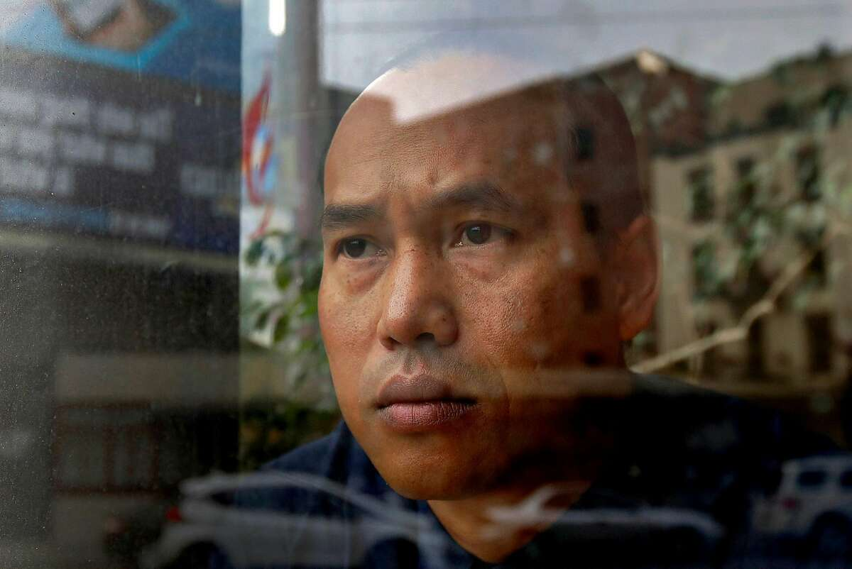 In this Oct. 23, 2018, file photo, Borey Ai poses for a photo at the Asian Americans Advancing Justice-Asian Law Caucus in San Francisco. Ai spent 19 years in prison before parole officials decided he'd turned his life around and he walked out of San Quentin in Nov. 2016 and into the waiting arms of federal immigration agents. In a rare step, the California Supreme Court has blocked Gov. Jerry Brown's attempt to issue a pardon to a 37-year-old man Cambodian refugee facing deportation for killing and robbing a woman when he was 14 years old. The court offered no public explanation for its rejection on Wednesday, Dec. 5, 2018 of Borey Ai's pardon. (AP Photo/Jeff Chiu, File)