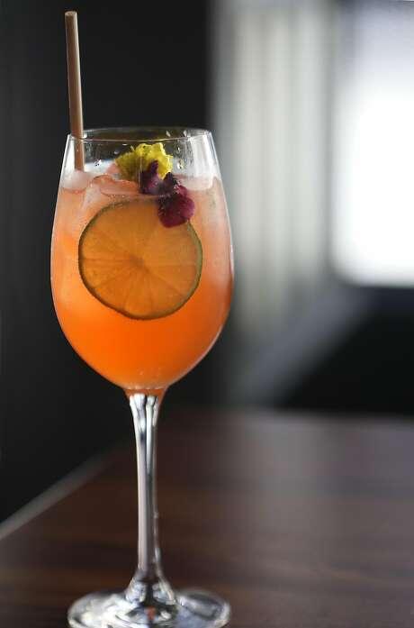 The Cordial's cardamom spritz. Photo: Liz Hafalia / The Chronicle