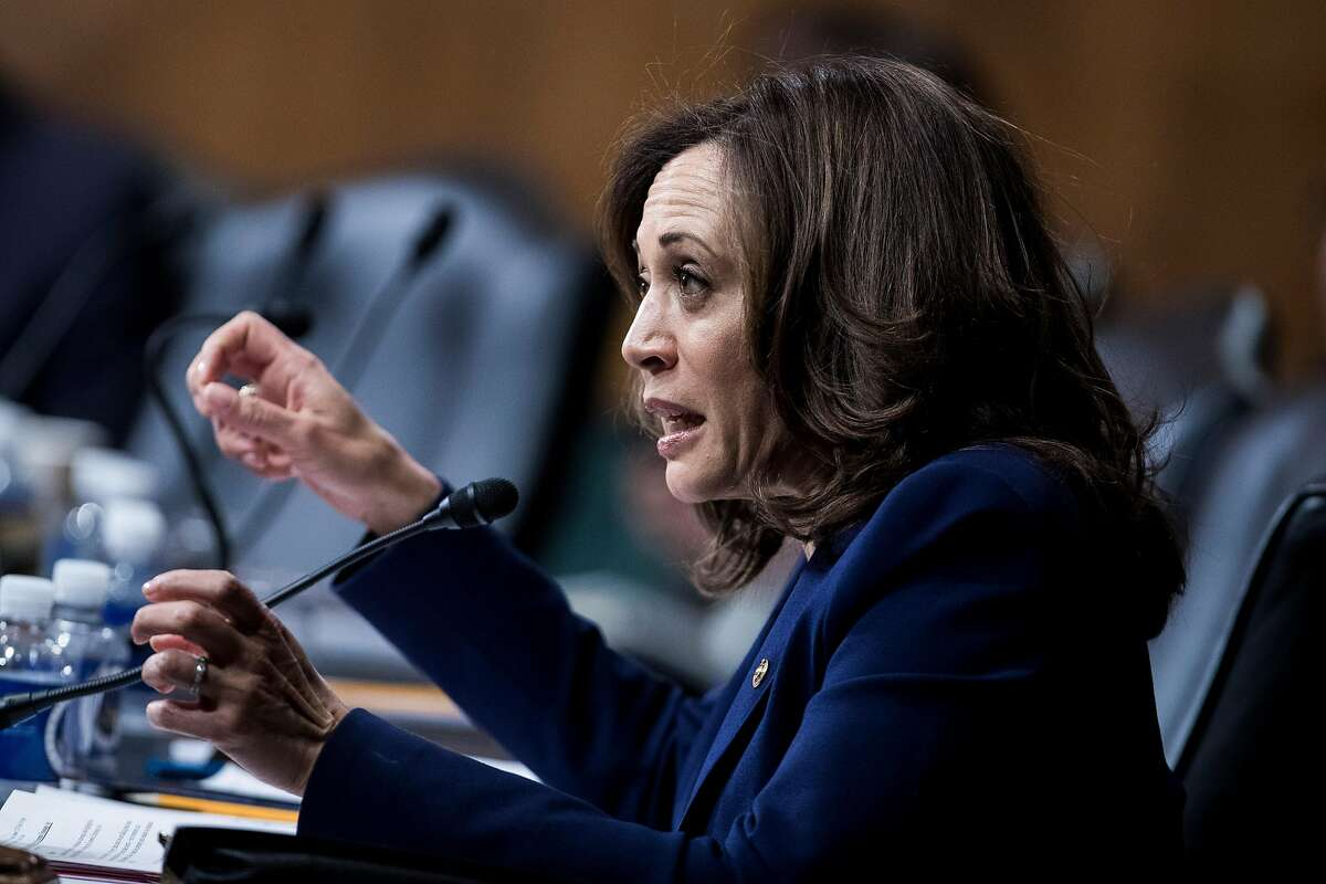 Sen. Kamala Harris (D-Calif.) speaks at a hearing Senate Judiciary Committee regarding Chinese espionage and policy responses, on Capitol Hill in Washington, Dec. 12, 2018. (Sarah Silbiger/The New York Times)