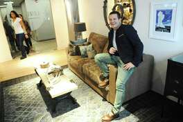 Lovesac founder Shawn Nelson at the Lovesac Headquarters at 2 Landmark Square in downtown Stamford.