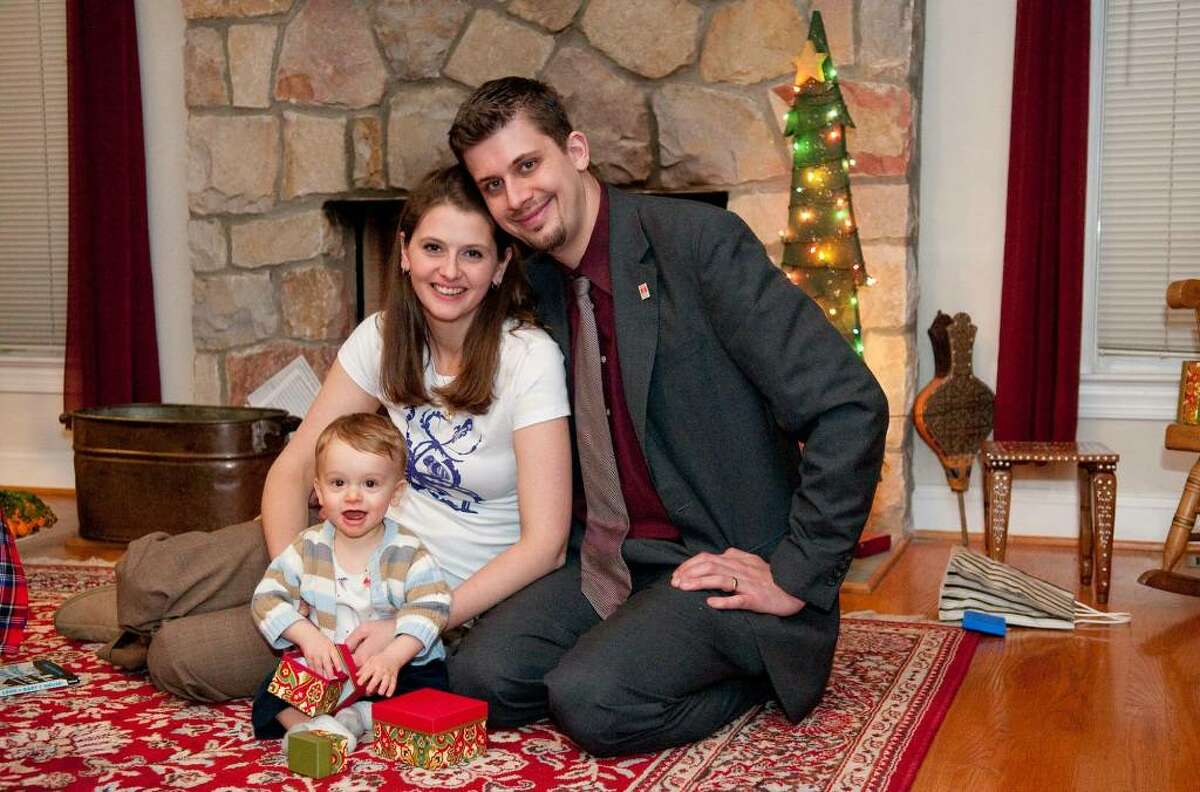 Elizabeth and Layne Lowery are seen here with their 17-month-old son, Orion. The Lowerys live in Sandy Hook.