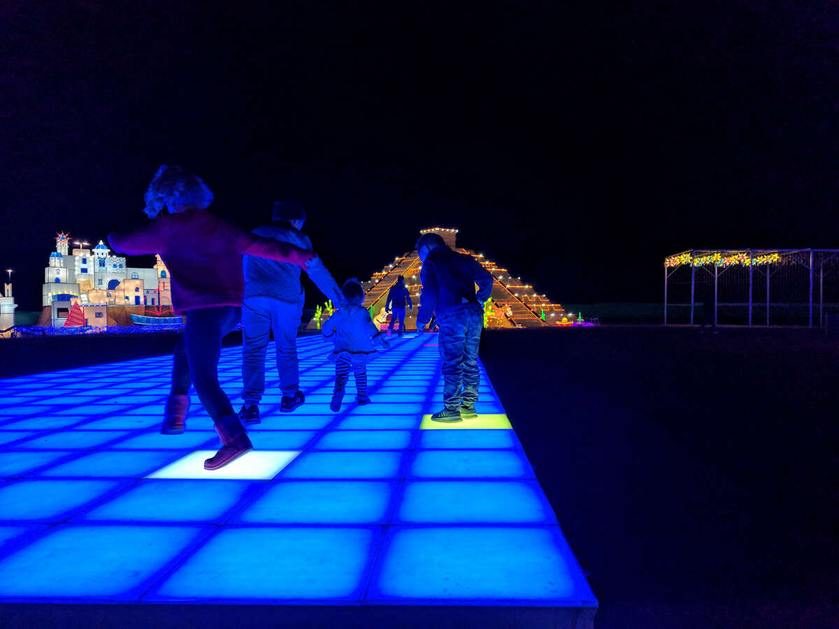 An interactive display is one of the many attractions at Magical Winter Lights