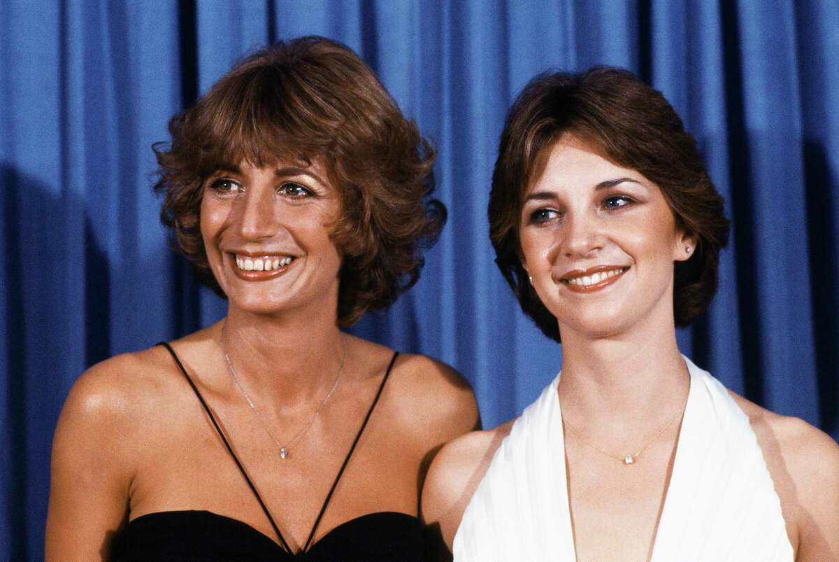 FILE - In this Sept. 9, 1979 file photo, Penny Marshal, left,l and Cindy Williams from the comedy series