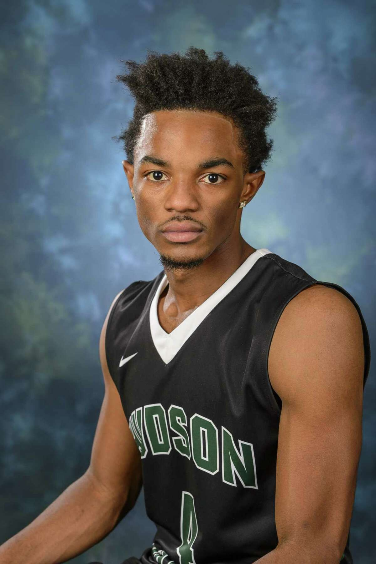 Hudson High School graduate Caleb Canty of the Hudson Valley men's basketball team. (Courtesy of HVCC)