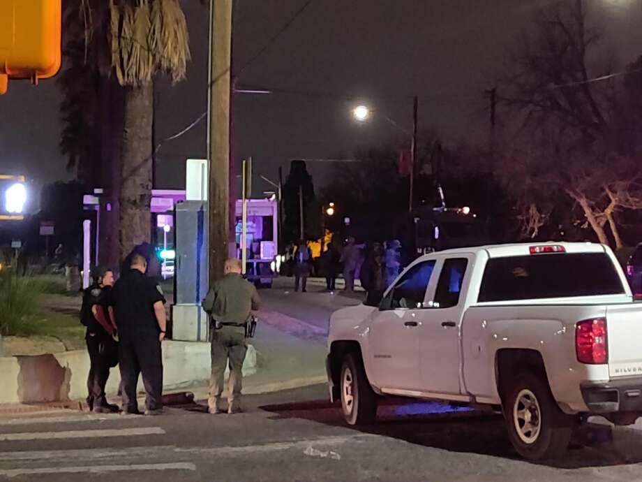 Four people were taken into police custody after San Antonio police investigated a claim that a woman and her children were being held against their will in the 700 block of South New Braunfels. Photo: Jacob Beltran
