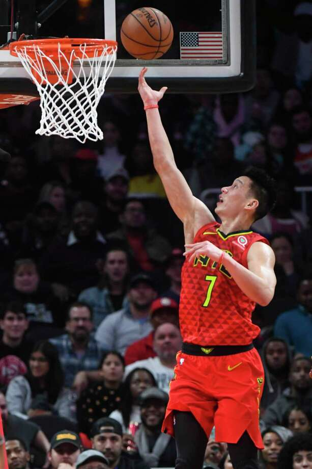 Atlanta Hawks guard Jeremy Lin lays up a shot against the Washington Wizards during the second half of their NBA basketball game Tuesday, Dec. 18, 2018, in Atlanta. The Hawks won 118-110. (AP Photo/John Amis) / Copyright 2018 The Associated Press. All rights reserved