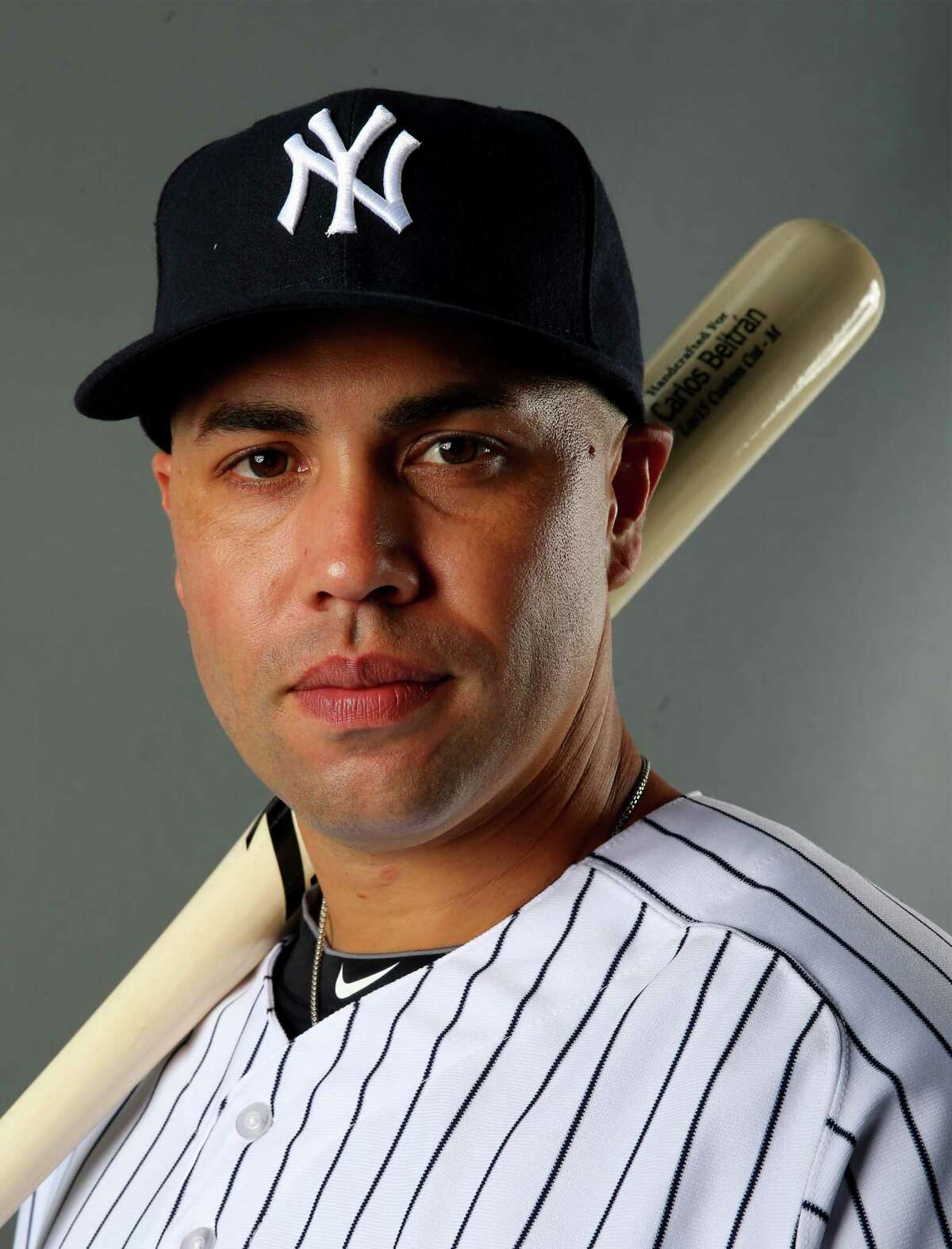 TAMPA, FL - FEBRUARY 22: Carlos Beltran #36 of the New York Yankees poses for a portrait during New York Yankees Photo Day on February 22, 2014 at George M. Steinbrenner Field in Tampa, Florida. (Photo by Elsa/Getty Images) ORG XMIT: 461756135