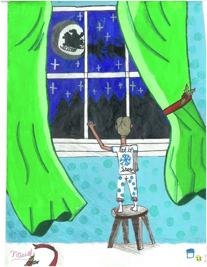 The overall 2018 Holiday Card Contest winning entry came from Nawaf Arref Kassem, a 5th grader from Latham Ridge. Photo: Provided