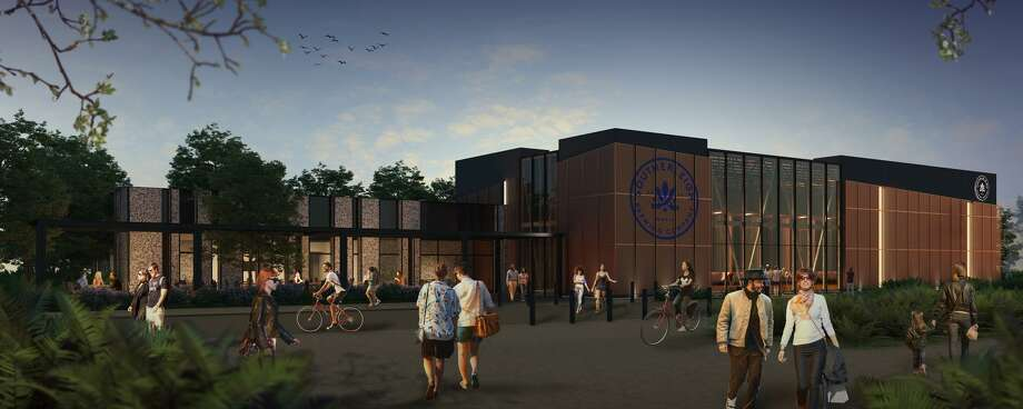 An artist rendering of the new Southerleigh brewery project planned at Brooks, set for a summer 2019 opening. Photo: AR3D