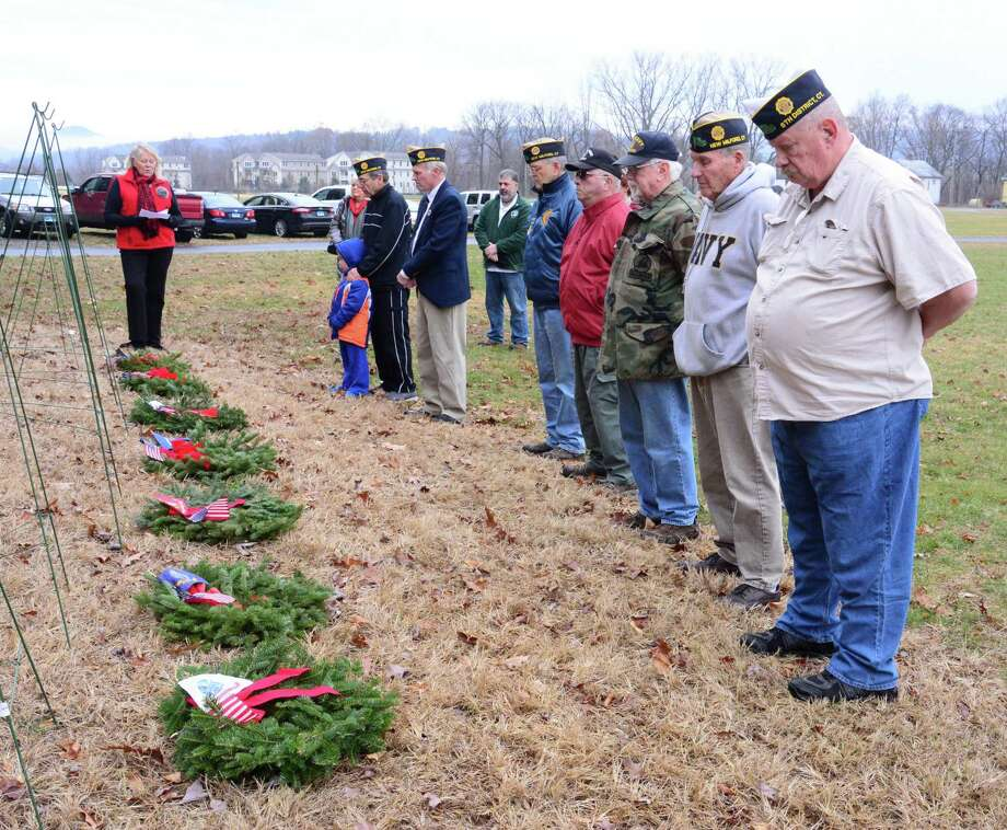 In keeping with the celebration of Wreaths Across America Day, Saturday December 15, 2018, New Milford hosted a ceremony sponsered by DAR at St. Francis Xavier Cemetery in honor of all soldiers past and present. Photo: Lisa Weir / For Hearst Connecticut Media / The News-Times Freelance
