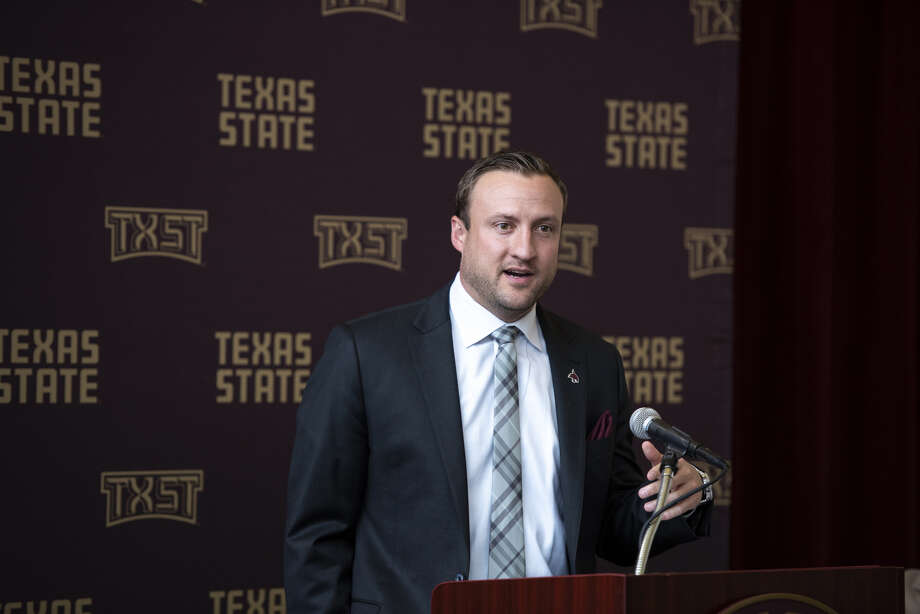 Texas State coach Jake Spavital welcomed his first recruiting class on Wednesday. Photo: Texas State Athletics Marketing