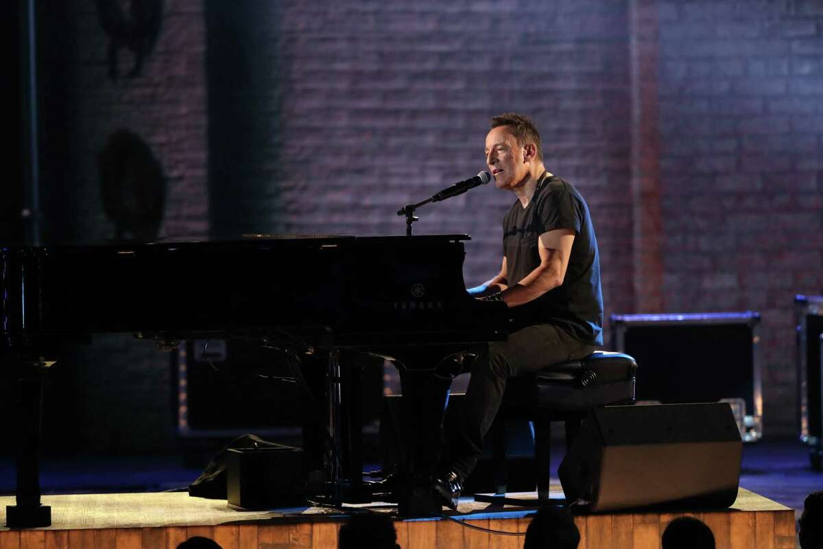 Bruce Springsteen performs at the 72nd Annual Tony Awards at Radio City Music Hall in New York, June 10, 2018.