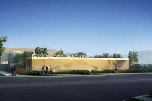The Binz Street side of the Holocaust Museum Houston will have an elegant new wall and signage.