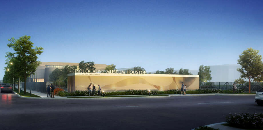 The Binz Street side of the Holocaust Museum Houston will have an elegant new wall and signage. Photo: Courtesy