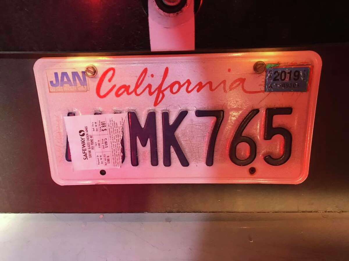 A man driving in Marin County was cited for driving with an obstructed license plate.