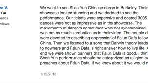 Love it or hate it, Shen Yun has provoked some strong opinions. Here's a selection of Yelp reviews of Shen Yun's Bay Ares shows.