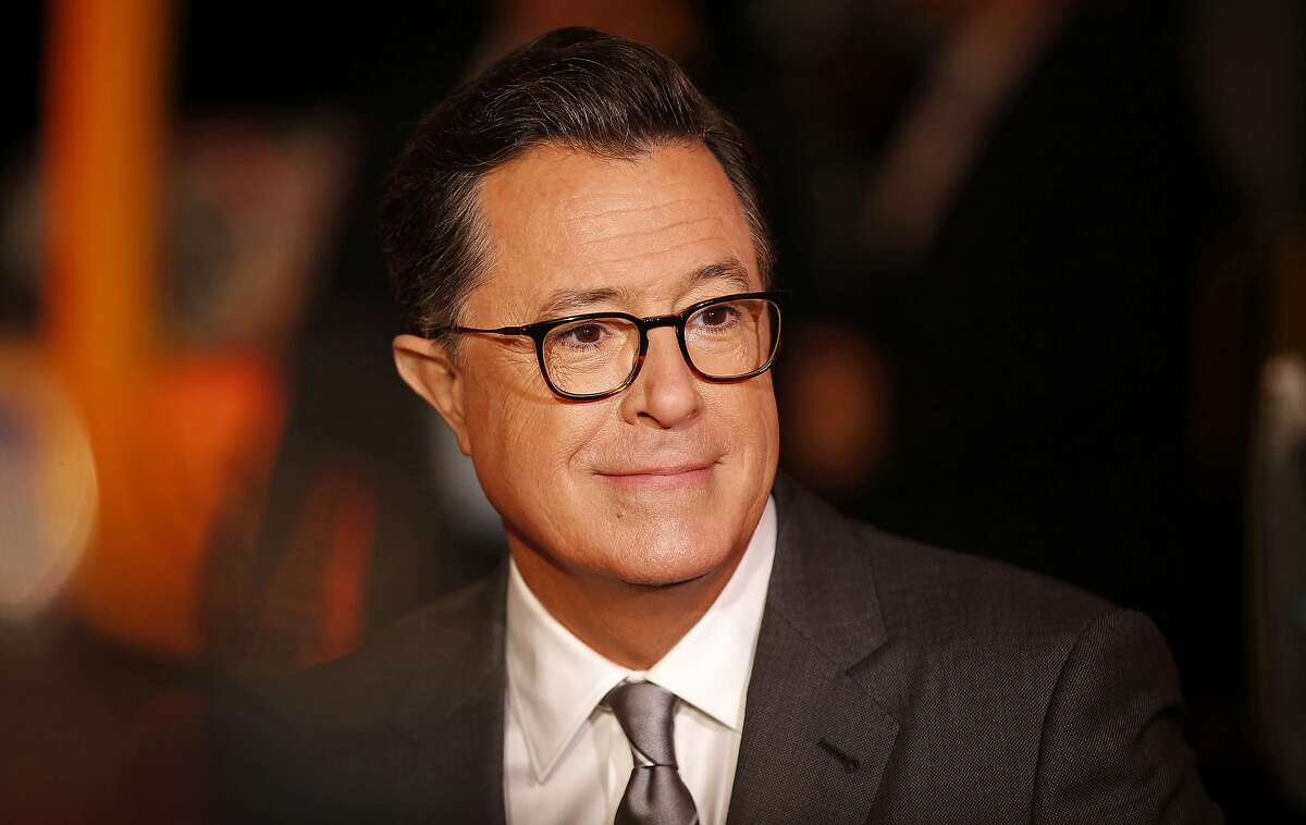 Stephen Colbert at the 2017 Emmy Awards, of which he was the host.
