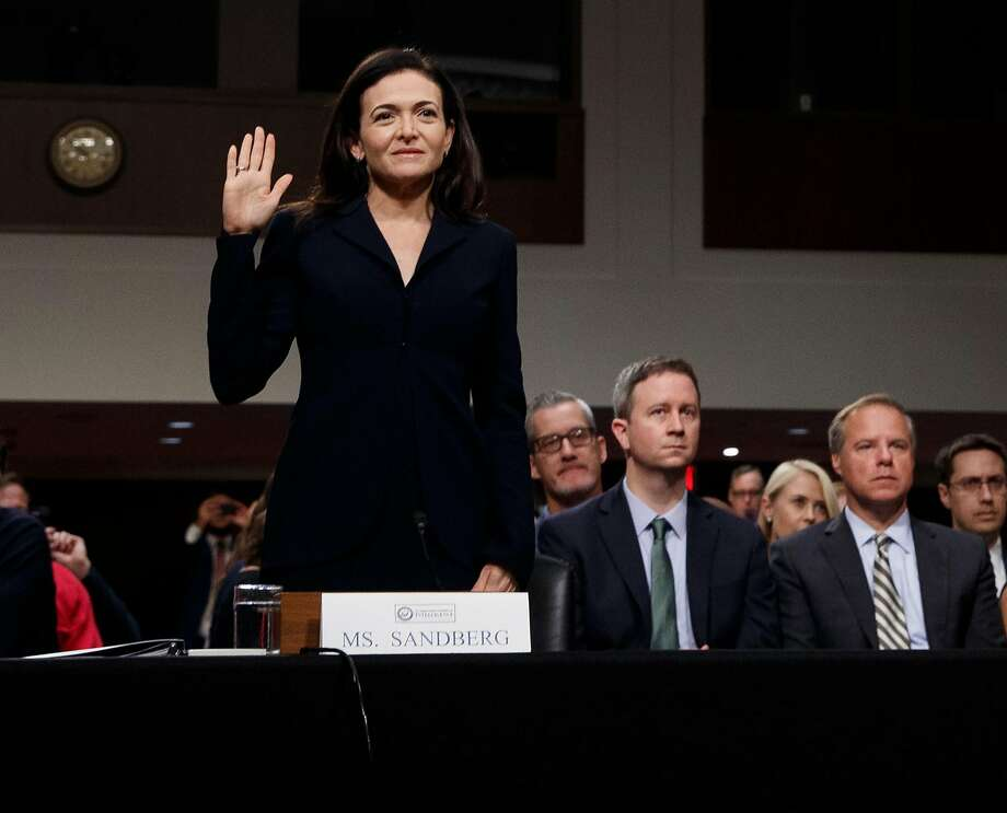 Sheryl Sandberg, chief operating officer, testifies in September. Despite claims that Facebook tightened privacy rules, some firms still had access to user data. Photo: Tom Brenner / New York Times