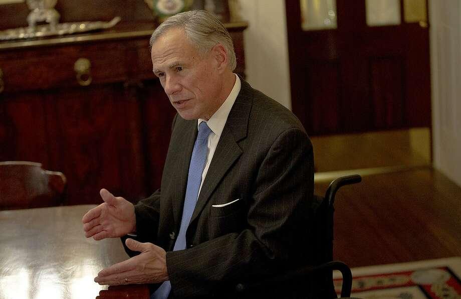 Texas Gov. Greg Abbott signed an anti-Israel boycott law in 2017. Photo: Nick Wagner / Associated Press