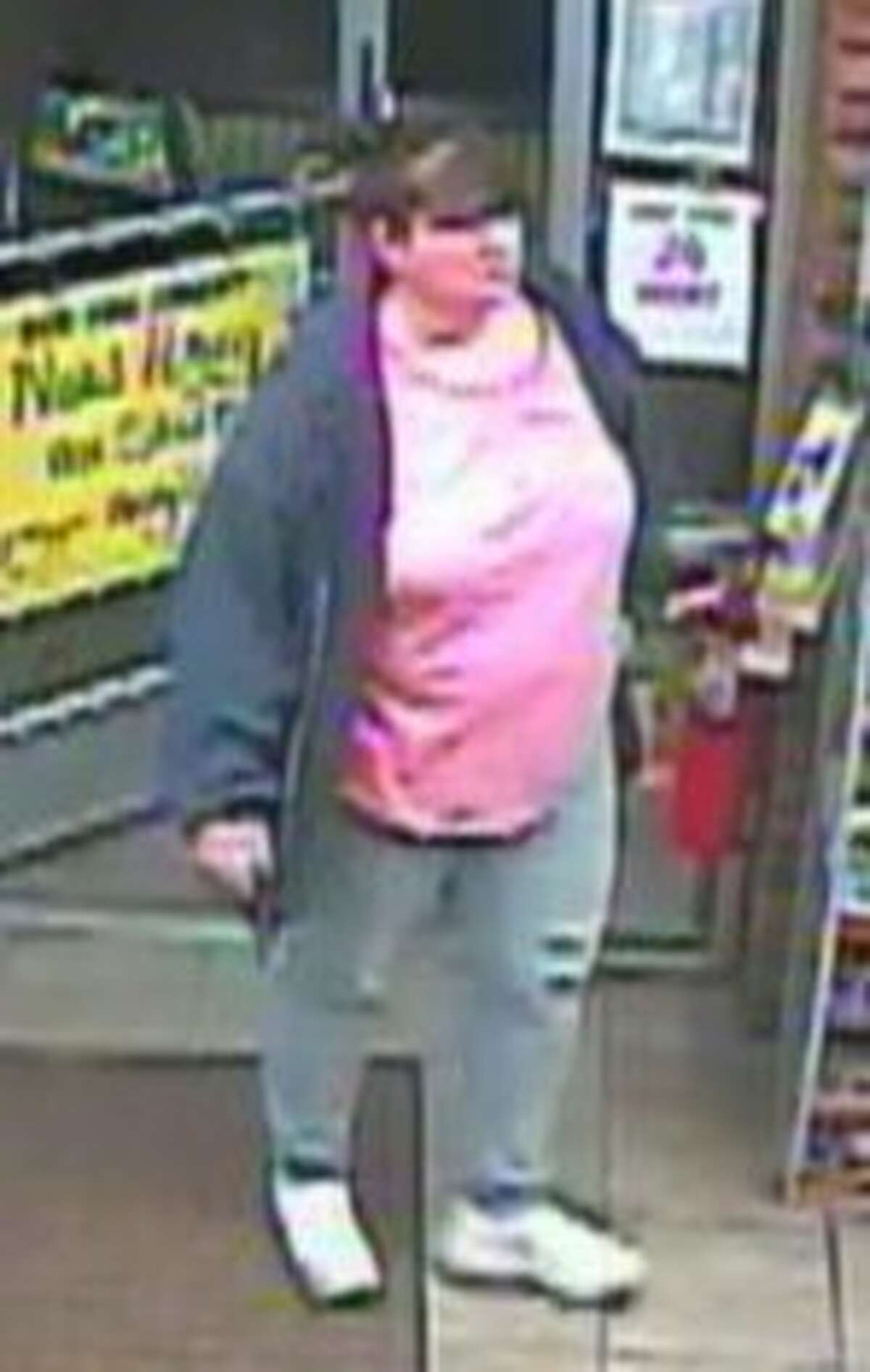 This is one of two people the Bethlehem Police are trying to identify as part of a larceny investigation. (Provided photo)
