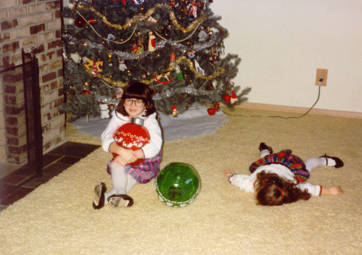 """The Christmas protest: """"Someone was not interested in having her Christmas Card picture taken."""""""