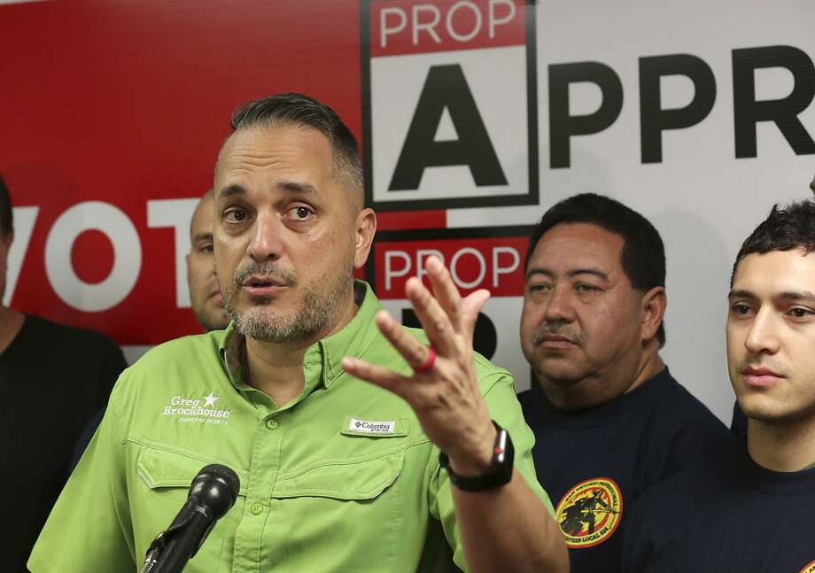City Council member Greg Brockhouse leads a press conference at the San Antonio Professional Firefighters Association, on Thursday, Nov. 8, 2018, addressing the recent election results concerning the propositions. Photo: Bob Owen, STAFF-photographer / San Antonio Express-News / ©2018 San Antonio Express-News