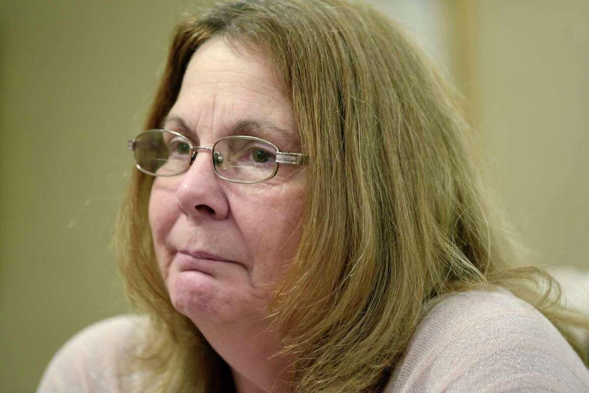 Donna Rivenburg, the mother of Amanda Rivenburg, talks about her daughter during an interview at the Girvin & Ferlazzo law firm on Tuesday, Dec. 18, 2018, in Albany, N.Y. Amanda was killed in the Schoharie limo crash. (Paul Buckowski/Times Union)