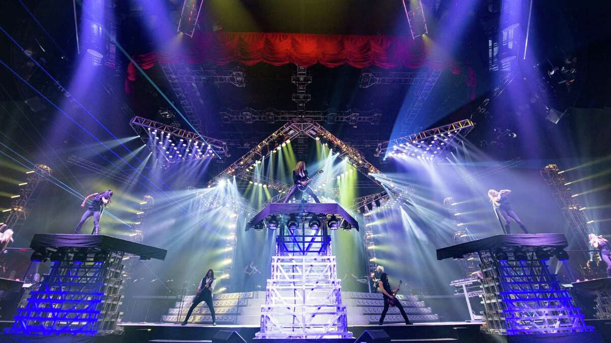 Trans-Siberian Orchestra performs The Ghosts of Christmas Eve at the Toyota Center on Friday.
