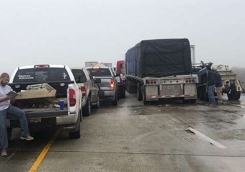 30 to 40 vehicles crash on stretch of foggy Texas interstate - San