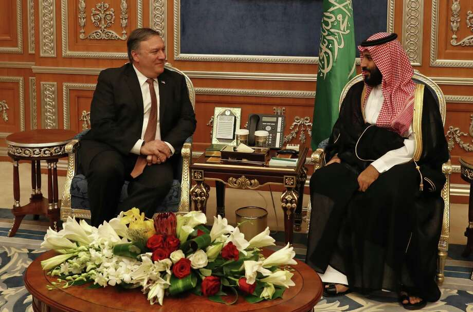 U.S. Secretary of State Mike Pompeo meets with the Saudi Crown Prince Mohammed bin Salman in Riyadh, Saudi Arabia, Tuesday Oct. 16. A reader says Trump's handling of the killing of a U.S. based journalist by the Kingdom was practical. Photo: Leah Mills /Associated Press / Reuters pool