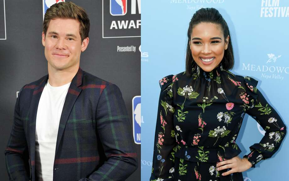 "Adam Devine (L) and Alexandra Shipp (R) will star in CBS Films' ""Lexi,"" shooting in San Francisco in 2019. Photo: Getty Images"