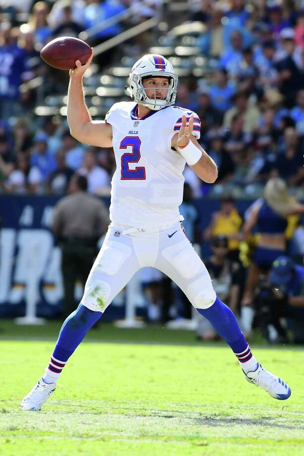 CARSON, CA - NOVEMBER 19:  Nathan Peterman #2 of the Buffalo Bills throws a pass during the first quarter of the game against the Los Angeles Chargers at the StubHub Center on November 19, 2017 in Carson, California.  (Photo by Harry How/Getty Images) ORG XMIT: 700070751 Photo: Harry How / 2017 Getty Images