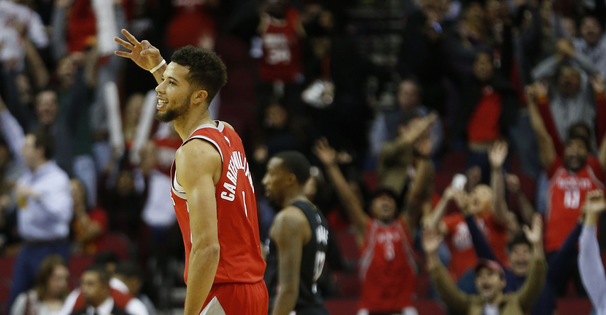 Rockets guard Michael Carter-Williams  work on shot pays off with  record-setter - San Antonio Express-News 375ecfa7f