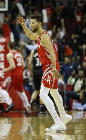 p Houston Rockets guard Michael Carter-Williams (1) celebrates after his 95fee4ba9