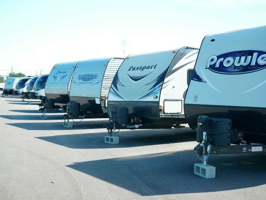 Fifty-seven trailers were moved from Dow's Texas Operations site to recipient organizations to be used as homes for families still recovering from Hurricane Harvey and volunteers assisting in recovery. (Photo provided)