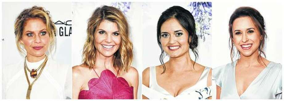 "Actresses Candace Cameron Bure (from left), Lori Loughlin, Danica McKellar and Lacey Chabert are all recurring stars of Hallmark holiday movies. Hallmark's ""Countdown to Christmas"" TV movies are so popular, they have an app and sell merchandise such as wine glasses and T-shirts. Photo: AP Photo"