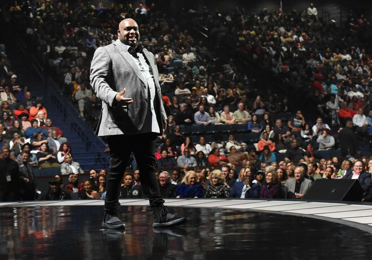 On Wednesday, Pastor John Gray took to the stage at Joel Osteen's Lakewood Church. Pastor John Gray has been lambasted for giving his wife a $200,000 Lamborghini. (Photo by Rick Diamond/Getty Images for BET) >>> Click through to see more on Pastor John Gray.