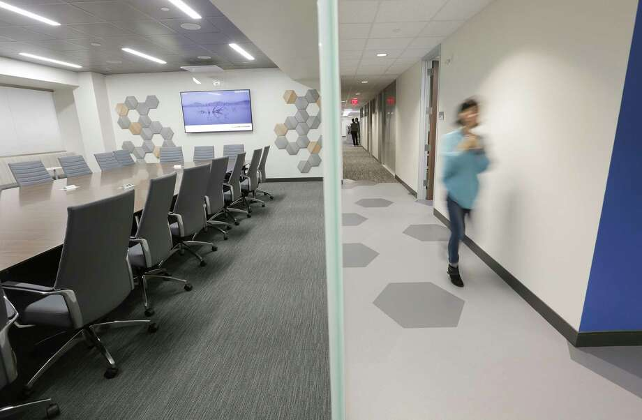 The new UTHealth School of Biomedical Informatics building puts the school into one location, with a variety of collaboration and meeting rooms. Photo: Elizabeth Conley, Staff Photographer / © 2018 Houston Chronicle