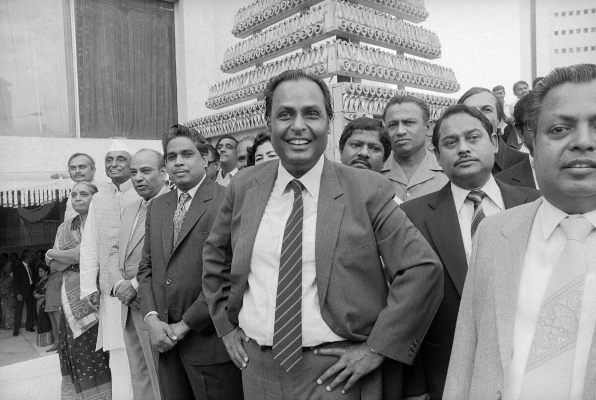 >>>About the Ambanis, Asia's wealthiest family. Indian industrialist Dhirubhai Ambani (pictured in 1985) founded Reliance, a corporation that manufactured textiles. It would eventually expand into petroleum sales and real estate.