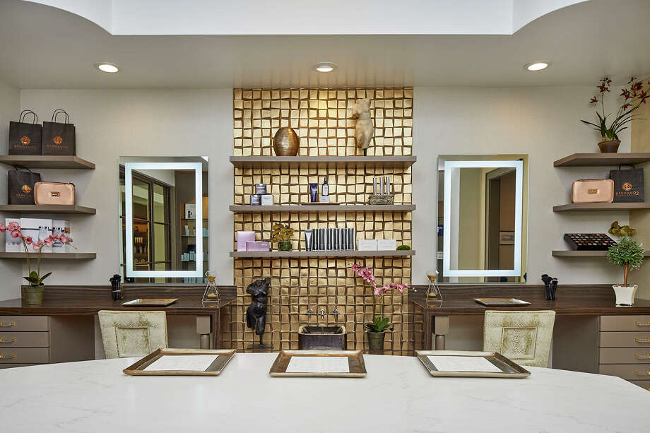 The apothecary at Bergamos Retreat Spa, a 20,000 square-foot day spa in Friendswood. It's owned by Marylyn Reed, the great granddaughter of the late beauty mogul Mary Kay Ash. Photo: Bergamos Retreat Spa, Terry Vine For Bergamos Spa Retreat / Copyright Terry Vine
