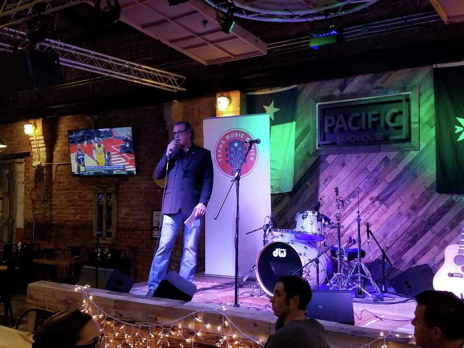 "Frank Jackson with Smith Music Company speaks at the Pacific Yardhouse on Tuesday night as Conroe was proclaimed a ""Music Friendly City."" Photo: Photo Courtesy The Conroe CVB"