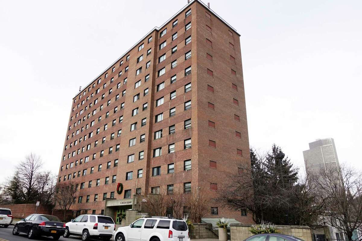 A view of 3 Lincoln Square apartment building on Thursday, Dec. 20, 2018, in Albany, N.Y. (Paul Buckowski/Times Union)