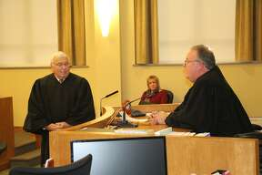 County officials were sworn in, Thursday, at a ceremony held at Huron County Circuit Court.