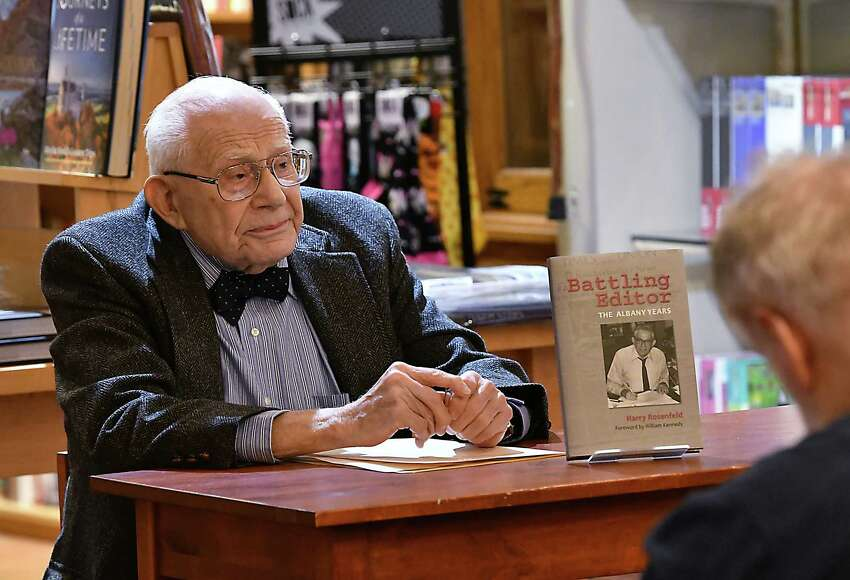 Harry Rosenfeld speaks at a book signing for his book